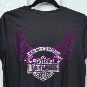 Black and Silver Harley T-SHIRT